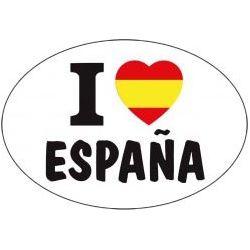 ADHESIVO I LOVE ESPAÑA 6X8 CM