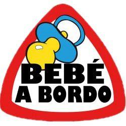 ADHESIVO BEBE A BORDO 6X8 CM
