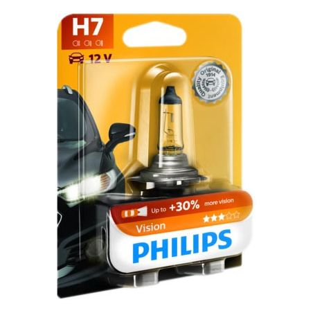 LAMPARA H7 VISION PHILIPS 12V 55W PX26D