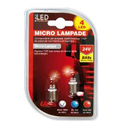 LAMPARA T4W 4 LED BLANCO 24V BA9S (BLISTER 2 UNIDADES)