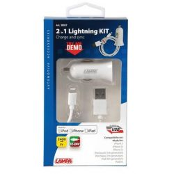 CARGADOR ORIGINAL 12V/24V IPHONE 5/6/7 (8 Pins lighting)