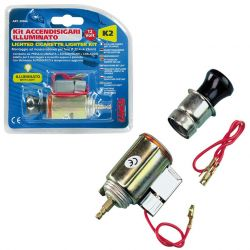 ENCHUFE MECHERO CON LUZ K2 21 MM DIAMETRO 12V
