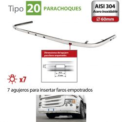 BARRA DE FARO PARA PARACHOQUES TIPO 20 VOLVO FH SERIE 4 (09/12+)