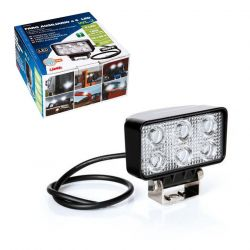 FARO AUXILIAR RECTANGULAR BLANCO 6 LED 10/30V 18W