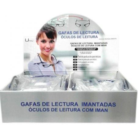 EXPOSITOR 24 UNIDADES GAFAS DE LECTURA GRADUADAS CIERRE CENTRAL IMANTADO