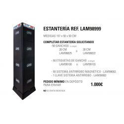 ESTANTERIA GIRATORIA 157X50X50 CM