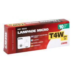 LAMPARAS T4W 24V 4W BA9S (CAJA 10 UNIDADES)
