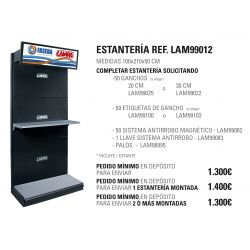 ESTANTERIA GRANDE LAMPA 210X100X50 CM CABECERA SALIENTE