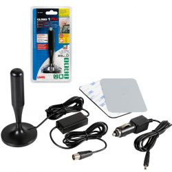 ANTENA TV CON RECEPCION DIGITAL GLOBE-1 PLUS 12/24 V 130 MM