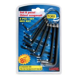 LLAVES HEXAGONALES TORX 8...