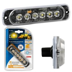 LUZ ESTROBOSCOPICA MULTIFUNCION 6 LED 12/24V AMBAR