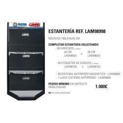 ESTANTERIA RINCONERA LAMPA 210X100X45 CM