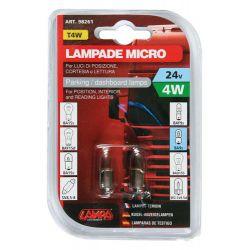LAMPARA T4W MICRO 24V HOMOLOGACION E (BLISTER 2 UNIDADES)