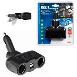TOMA MECHERO DUO-4 2 TOMAS STANDARD 2 USB 12/24V