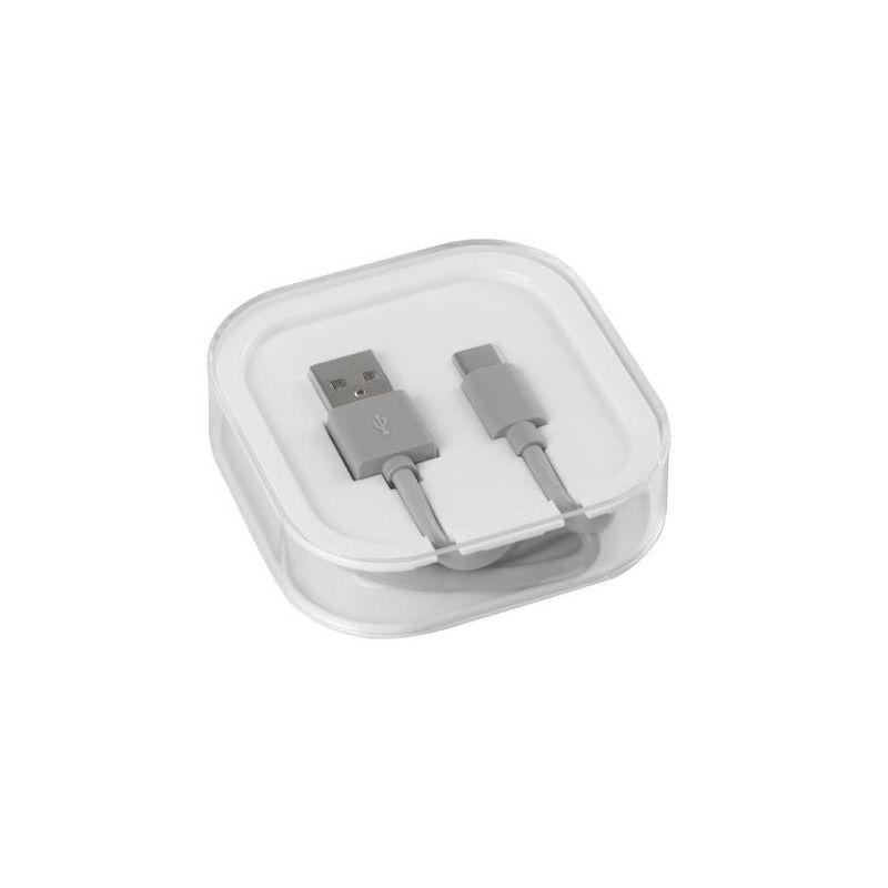 CABLE USB TIPO C ESSENTIAL 100 CM GRIS