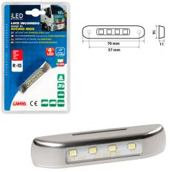 LUZ GALIBO 4 LED 12/24V ROJA