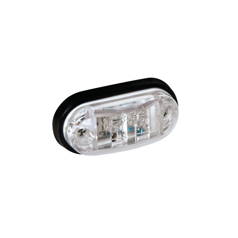 LUZ GALIBO FRONTAL OVALADA 2 LED 24V BLANCO
