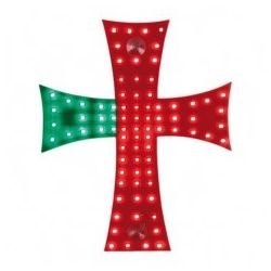 CRUZ LED PORTUGAL 24V 81 LED 200X250 MM CABLE 185 CM