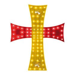 CRUZ LED ESPAÑA 24V 81 LED 200X250 MM CABLE 185 CM