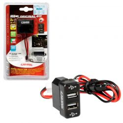 TOMA DOBLE USB 12/24V MAN