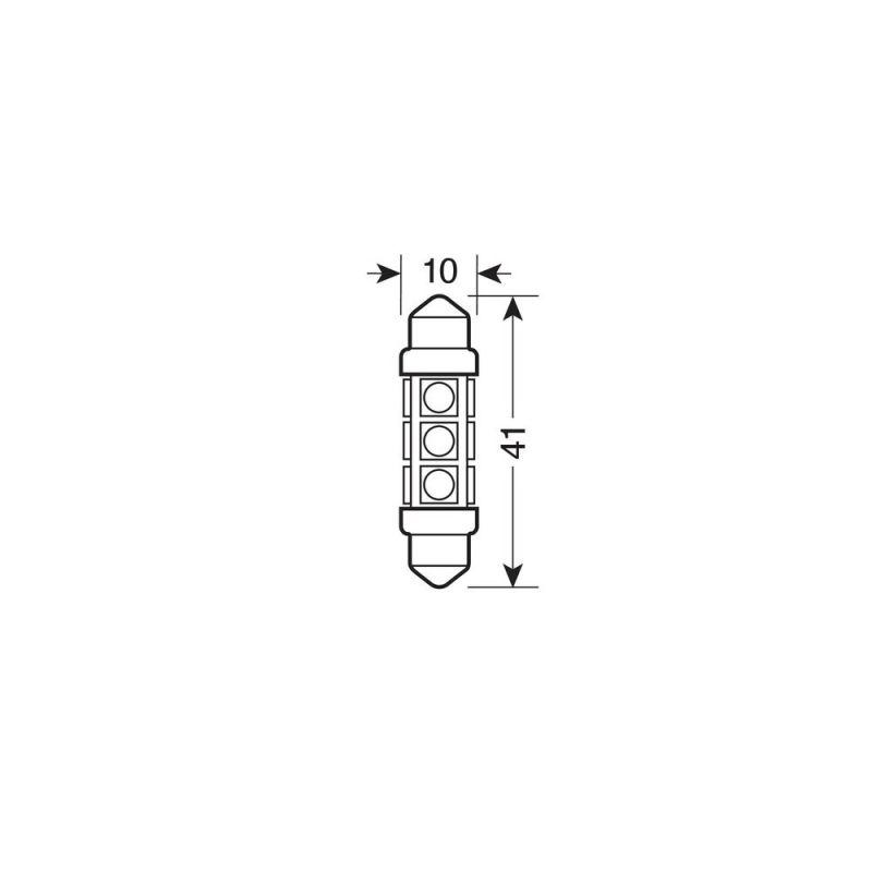LAMPARA HYPER LED 24/30V 36-12 SMD 3 CHIPS (2 UNIDADES)